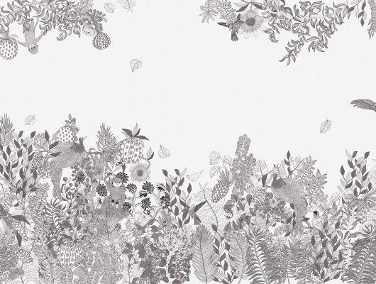 Черно белые фотообои под заказ с рисунком в виде тропических животных в своей естественной среде обитания - тропиках. Купить в России, What's Your Story, Индивидуальное панно, Фотообои
