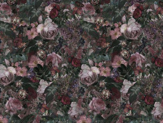 Фотообои под заказ с темным цветущим садом и его таинственными обитателями, купить в Москве, What's Your Story, Индивидуальное панно, Фотообои