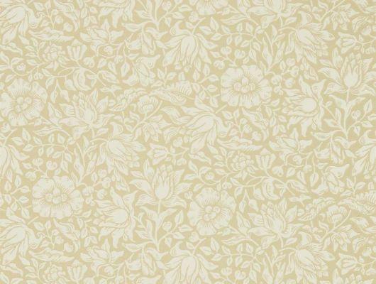 Купить дизайнерские обои арт. 216677 из коллекции Melsetter от Morris, Великобритания в нежном золотом цвете в интернет-магазине Odesign.ru., Melsetter, Бумажные обои, Обои для гостиной, Обои для спальни