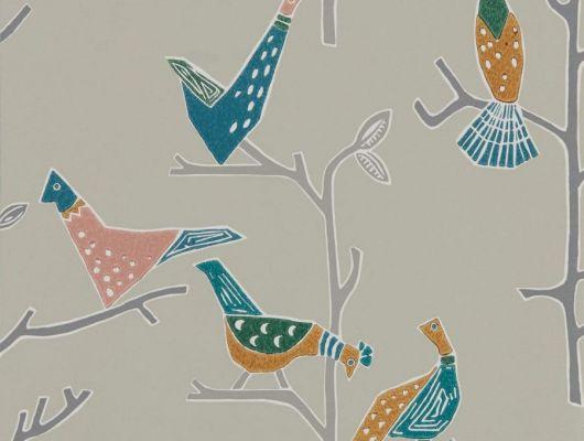 Выбрать обои для коридора Passaro с изображением птиц из коллекции Japandi  от Scion в шоу-руме в Москве., Japandi, Обои для гостиной, Обои для кухни