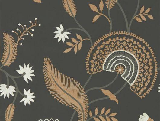 Приобрести обои для прихожей Hakimi арт. 216769 из коллекции Caspian, Sanderson,  с растительным узором и эффектом ручной росписи., Caspian, Обои для гостиной, Обои для кабинета, Обои для спальни