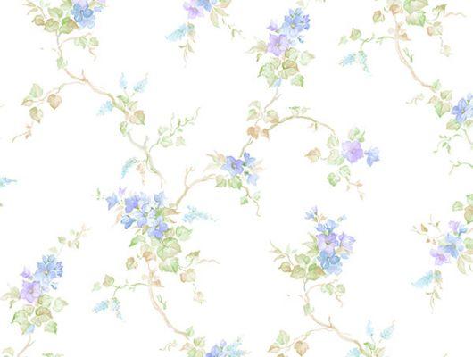 Бумажные обои Aura Little England III PP35528 для спальни с цветами.. Купить с доставкой.Недорого.Большой ассортимент. Обои в квартиру.Заказать, Little England III, Обои для кухни, Обои для спальни