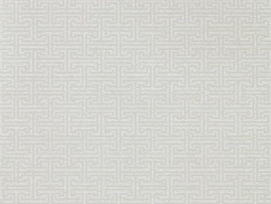 Английские обои в кухню арт. 312939 дизайн Ormonde Key из коллекции Folio от Zoffany, Великобритания с геометрическим рисунком серо-коричневого цвета заказать в салоне обоев Одизайн, Folio, Обои для гостиной, Обои для спальни
