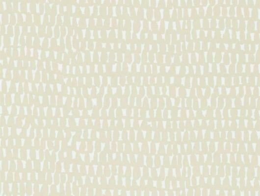 Заказать обои для квартиры Totak бежевые с белым принтом из коллекции Esala от Scion недорого с доставкой., Esala, Обои для гостиной, Обои для спальни