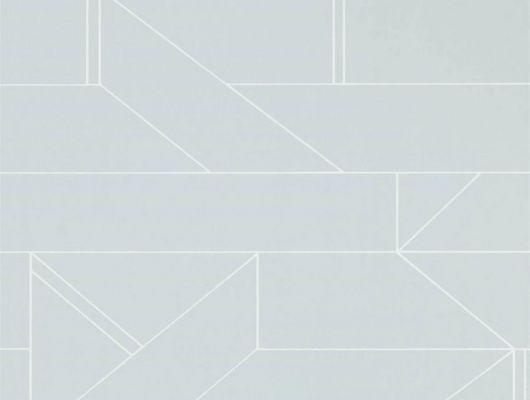 Обои для ремонта арт. 112017 дизайн Barbican из коллекции Zanzibar от Scion, Великобритания с современным геометрическим принтом белого цвета на светло-сером фоне заказать на сайте Odesign.ru, Zanzibar, Обои для гостиной, Обои для спальни