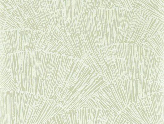 Абстрактный рисунок напоминающий веера для спальни в светлых оттенках арт.112178 дизайн Tessen из коллекции Momentum 6 от Harlequin можно заказать с бесплатной доставкой до дома, Momentum 6, Обои для гостиной, Обои для спальни