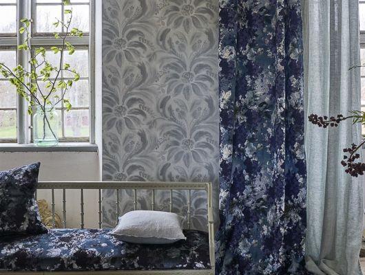 Купить английские флизелиновые обои  Designers guild - Tulipa Stellata.Арт.PDG1036/05.Дамаск.Обои для спальни,гостиной.Большой ассортимент.Доставка.Фото в интерьере., Tulipa, Обои для гостиной, Обои для спальни