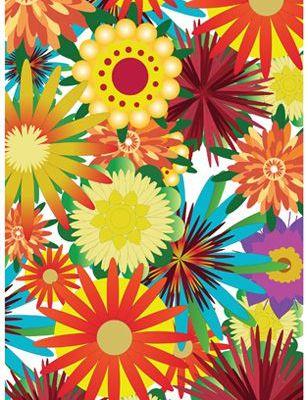 """Фотопанно на стену """"Сила цветов"""" с яркими цветами всех цветов радуги купить в Москве., Urban Nature, Детские обои, Распродажа, Распродажные фотообои, Фотообои"""
