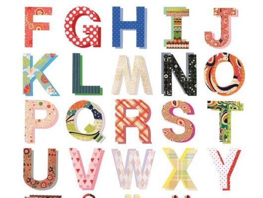 Фотопанно в детскую с разноцветным шведским алфавитом, Hide & Seek, Детские обои, Детские фотообои, Флизелиновые обои, Фотообои