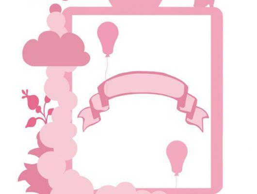 Фотообои для девочек с розовой рамкой и возможностью написать свой текст под заказ, Hide & Seek, Детские обои, Детские фотообои, Флизелиновые обои, Фотообои