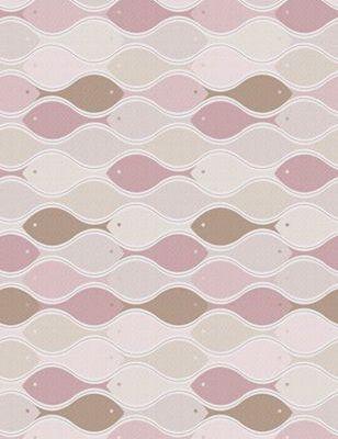 """Фотопанно для детей """"Рыбка желаний"""" в розовом цвете с стилистичным узором из розовых рыбок"""