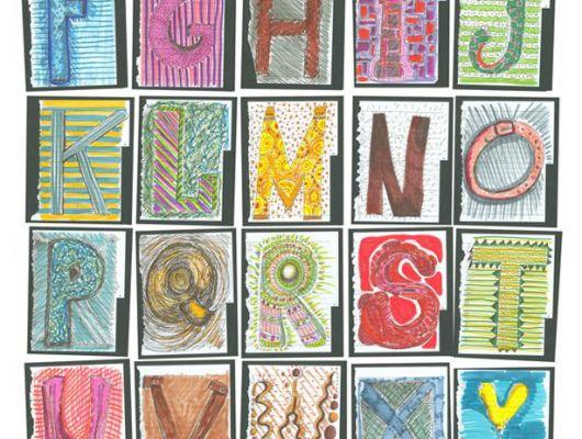 Фотообои для детской с яркими буквами всего английского алфавита, Communication, Детские обои, Детские фотообои, Нефотография, Фотообои