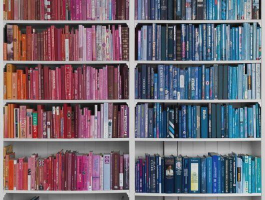 """Фотообои с книжным стеллажом """"Библиотека - разноцветное знание"""" под свой размер, помогут сэкономить место в комнате, визуально расширив ваш интеллектуальный багаж., Communication, Обои для гостиной, Фотообои, Хиты продаж"""