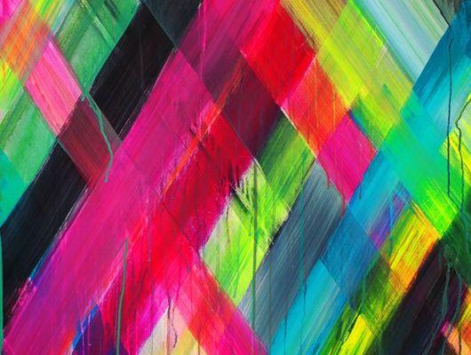 """Фотообои """"Неоновый свет"""" с диоганальными мазками ярких стекающих красок, которые сделают любую стену главной купить в Москве., Nostalgic, Фотообои, Хиты продаж"""