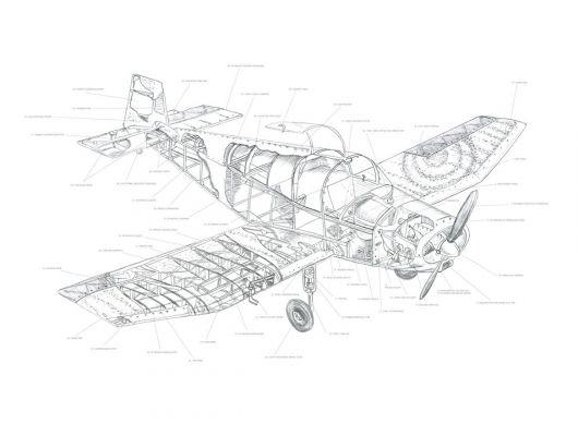 Детские фотообои с изображениями деталей самолета подойдут для развития в ребенке структурированного мышления и любознательности, Interaction, Детские обои, Детские фотообои, Фотообои