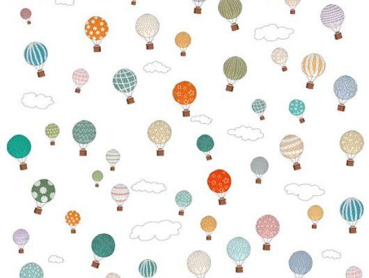Фотообои для детей с яркими разноцветными воздушными шарами, Interaction, Детские обои, Детские фотообои, Фотообои