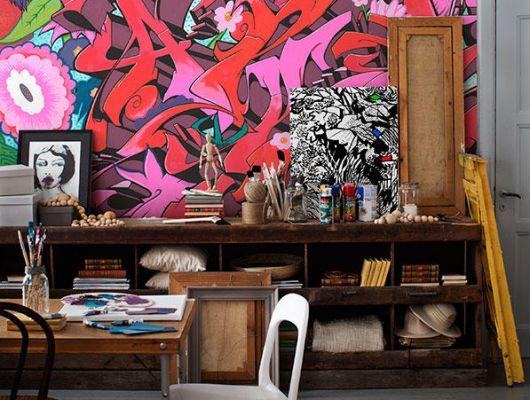 Фотообои с граффити, для энергичных людей купить в Москве, Street Art, Фотообои, Хиты продаж