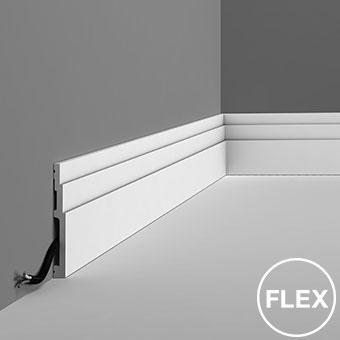 Плинтус SX180F - High Line, Orac decor, Лепнина и молдинги, Назначение, Плинтусы