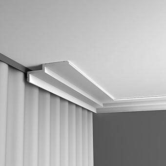 Карниз C391 - Steps  Orac Decor , Orac decor, Карнизы, Лепнина и молдинги, Назначение, Профили для штор