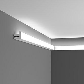 Карниз для скрытого освещения C380 - L3, Orac decor, Карнизы, Карнизы для скрытого освещения, Лепнина и молдинги, Назначение