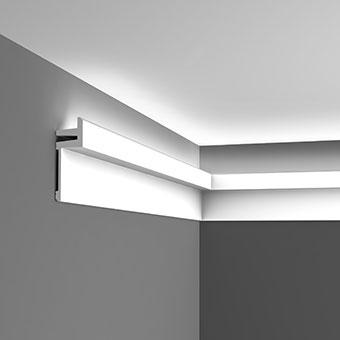 Карниз для скрытого освещения C382 - L3, Orac decor, Карнизы, Карнизы для скрытого освещения, Лепнина и молдинги, Назначение