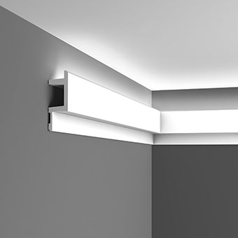 Карниз для скрытого освещения C383 - L3, Orac decor, Карнизы, Карнизы для скрытого освещения, Лепнина и молдинги, Назначение